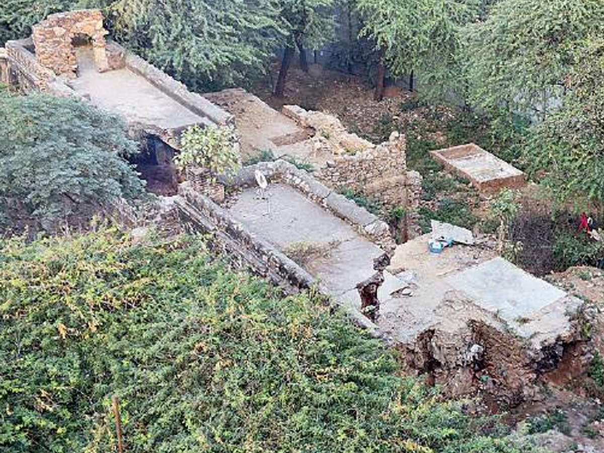 Plot Thickens Land Mafia Targets Sultanate Era Mosque In Mehrauli Delhi News Times Of India
