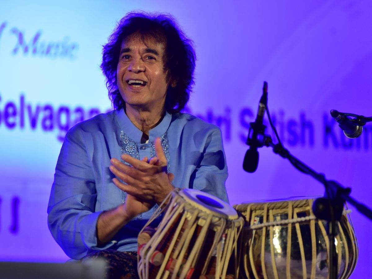 Zakir Hussain: I am still a student, there is a lot to learn: Ustad Zakir Hussain | Kannada Movie News - Times of India