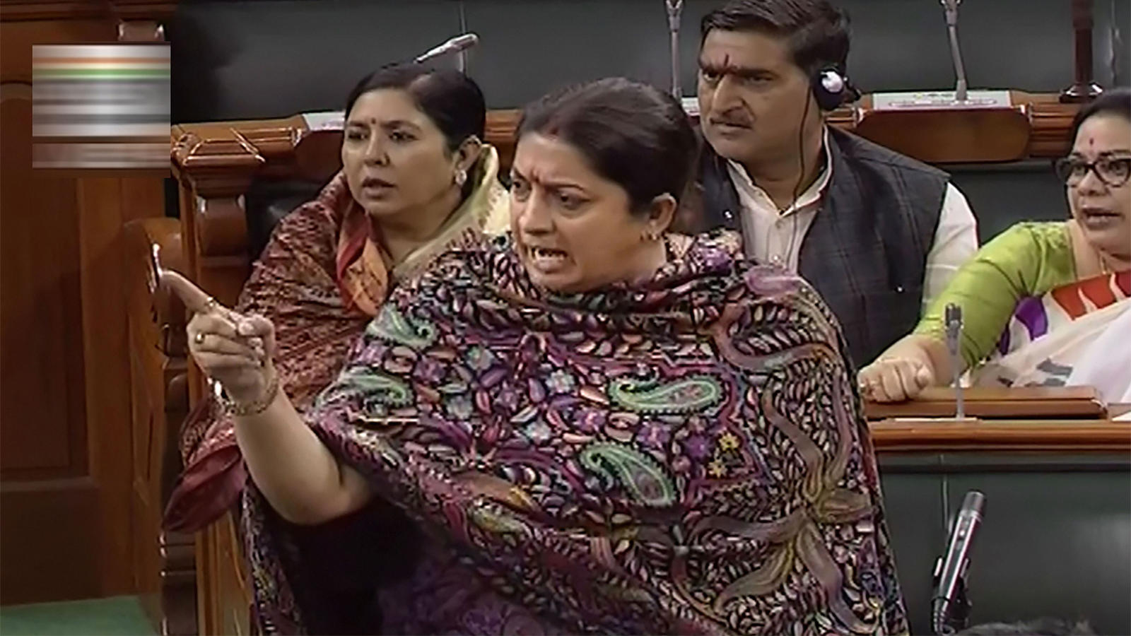 uproar-in-parliament-as-smriti-irani-speaks-over-crime-against-women
