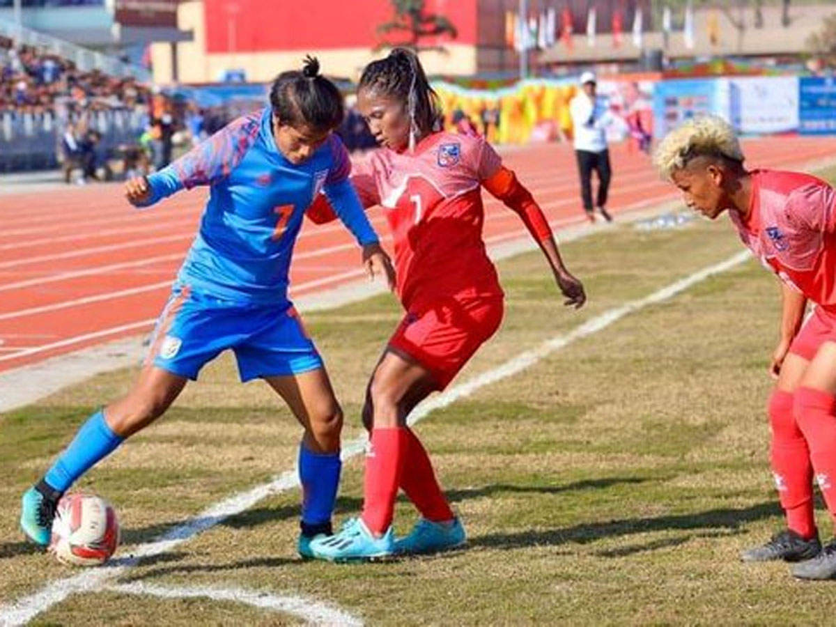 Indian Women S Football Team Enters South Asian Games Final Football News Times Of India