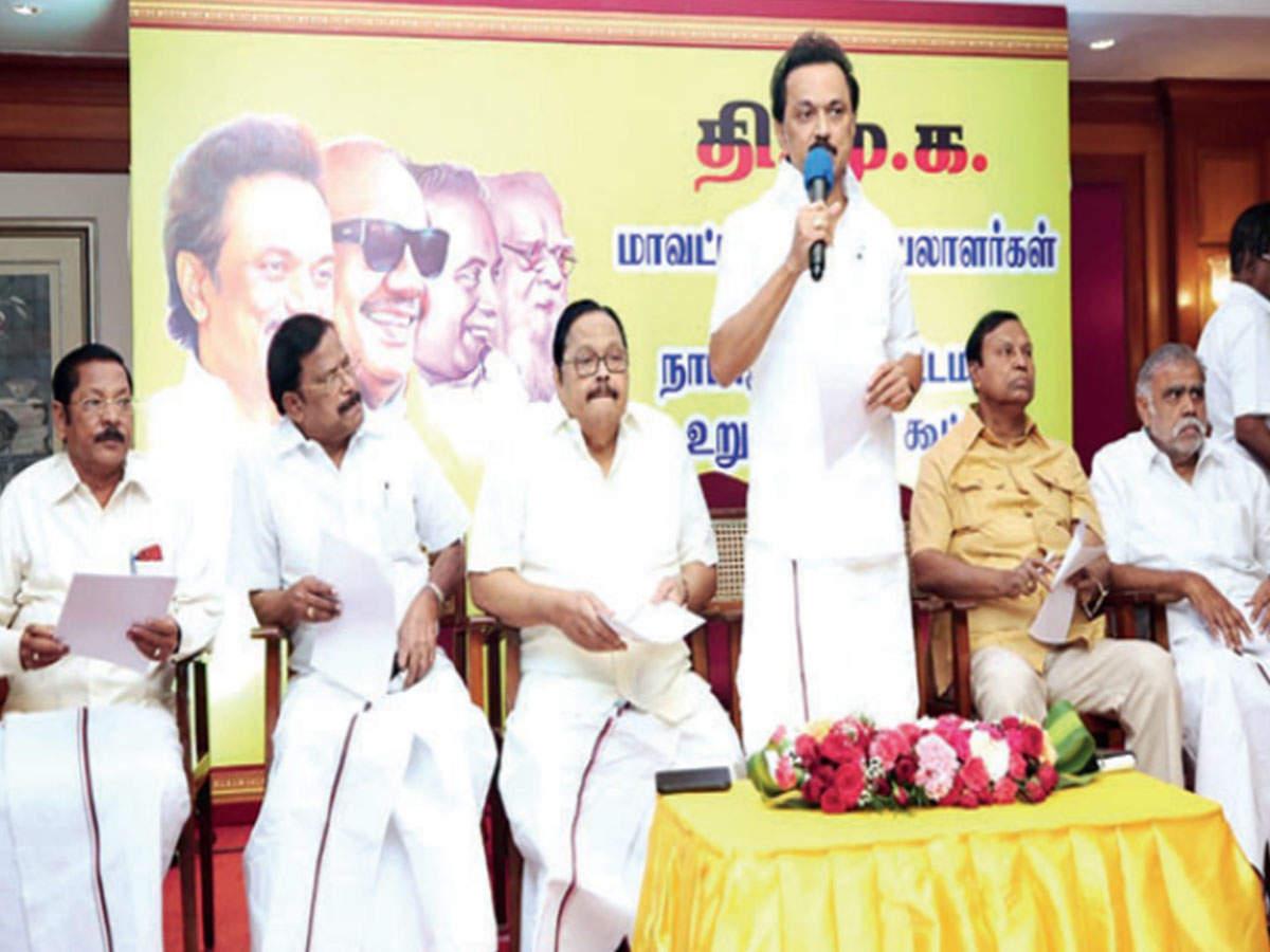 Stalin warns DMK men against nexus with Tamil Nadu ministers | Chennai News  - Times of India