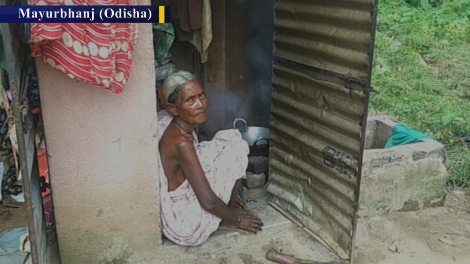 72-year-old-tribal-woman-lives-in-toilet-in-odishas-mayurbhanj