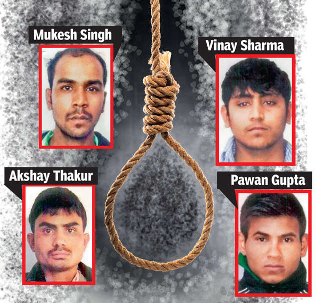 Image result for No Change in the Process of Execution of Nirbhaya Convicts