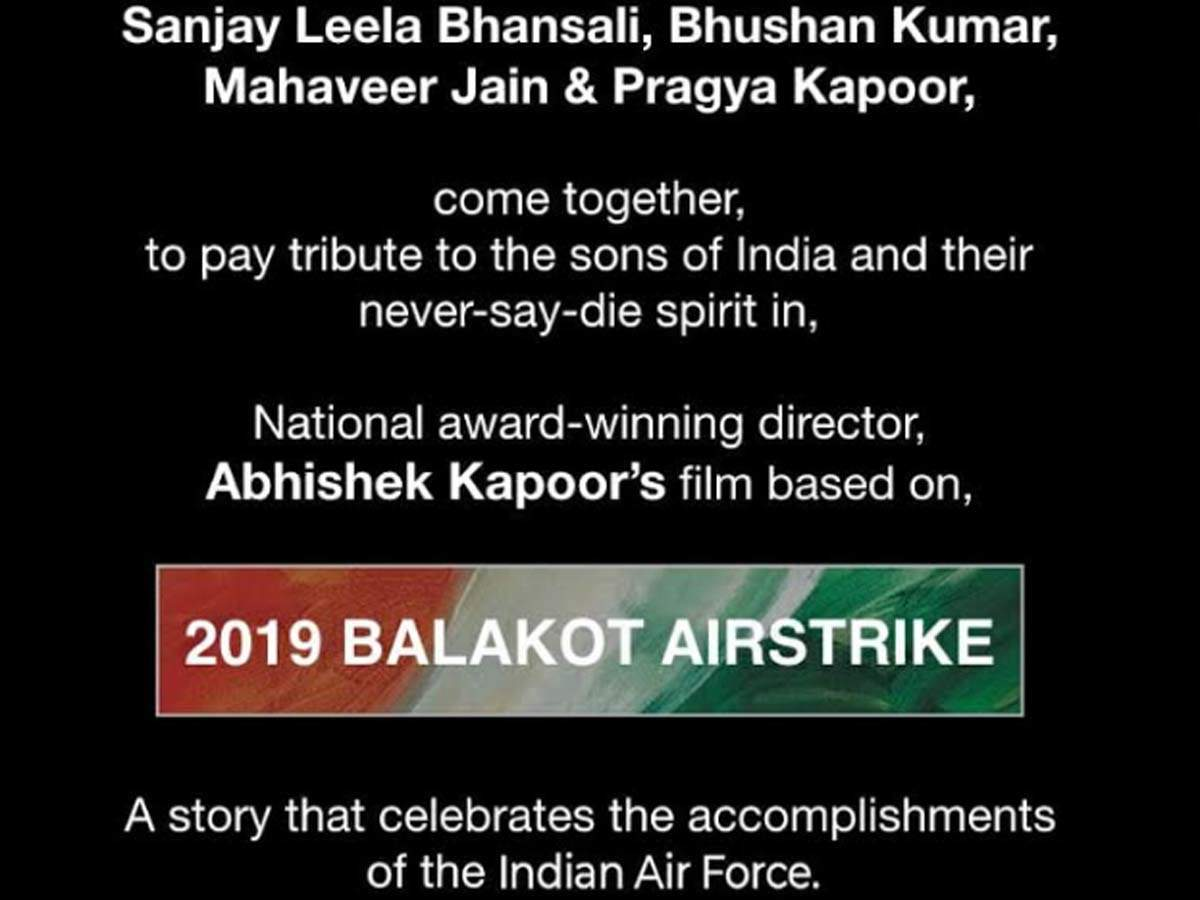 Sanjay Leela Bhansali Join Hands With Bhushan Kumar For A Film On Balakot Airstrike Hindi Movie News Times Of India
