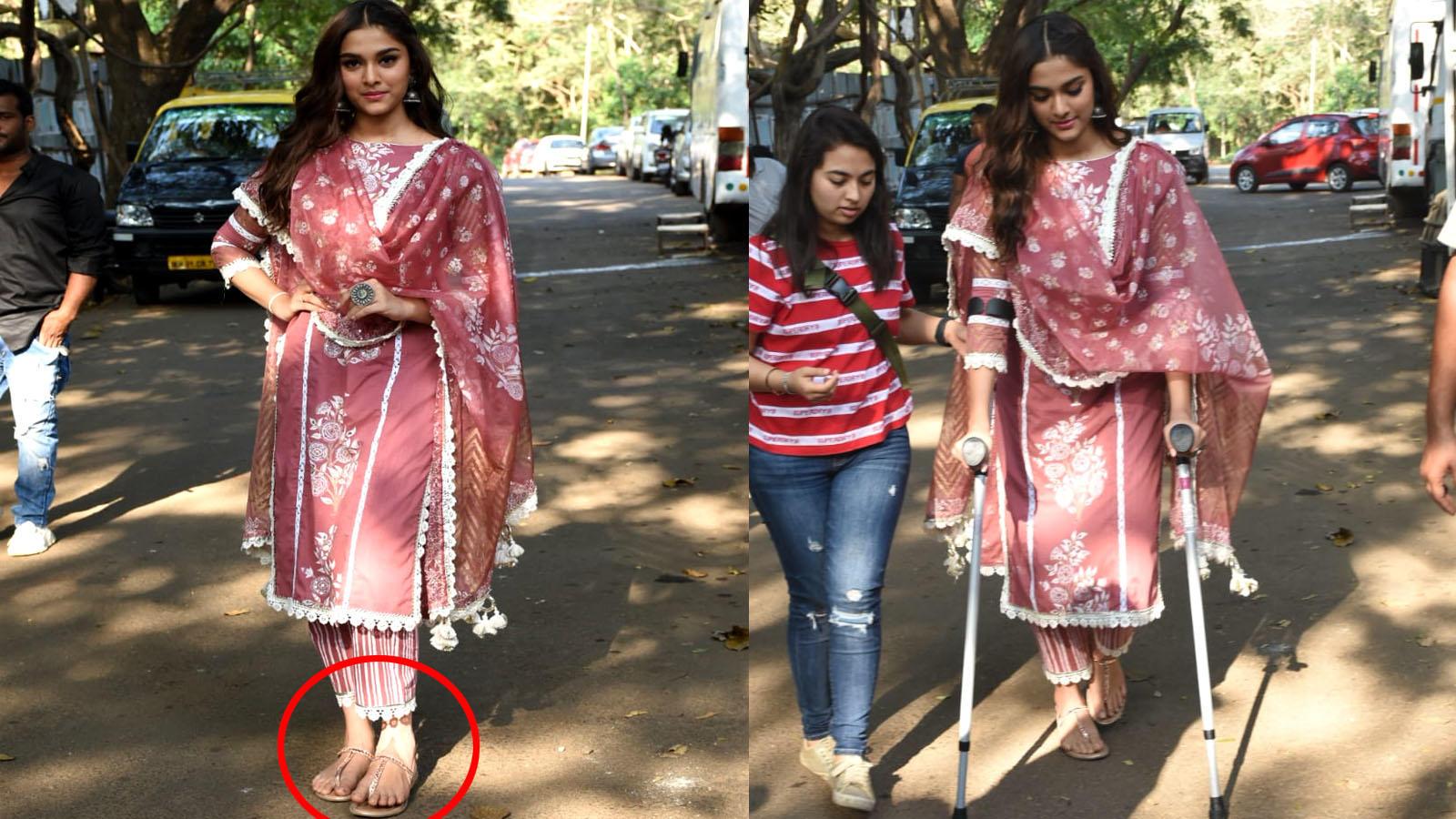 dabangg-3-promotions-injured-saiee-manjrekar-papped-with-crutches
