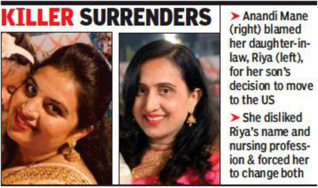 Mumbai Woman Bludgeons Nri Bahu To Death For Stealing Her Son Mumbai News Times Of India