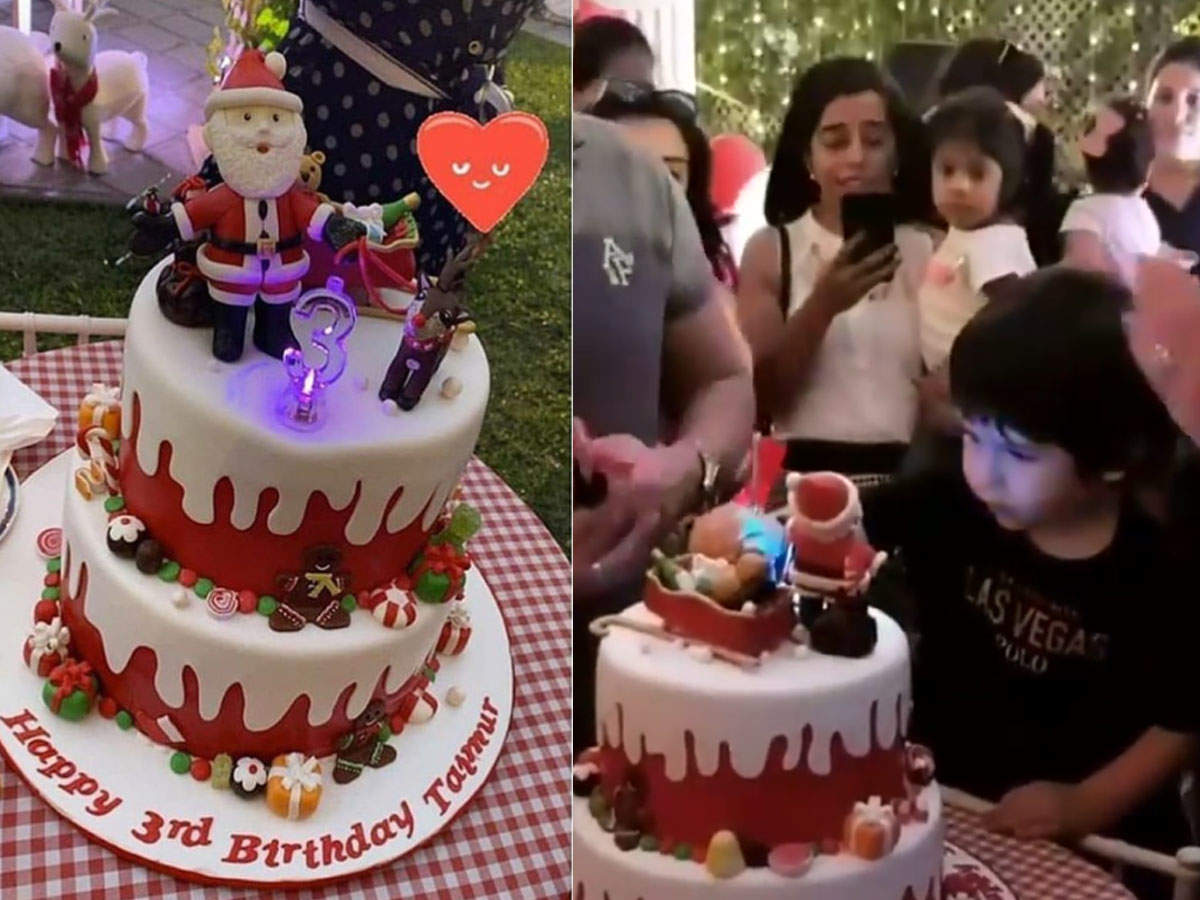 Groovy Watch Taimur Ali Khan Is One Happy Kid As He Cuts His Christmas Personalised Birthday Cards Arneslily Jamesorg