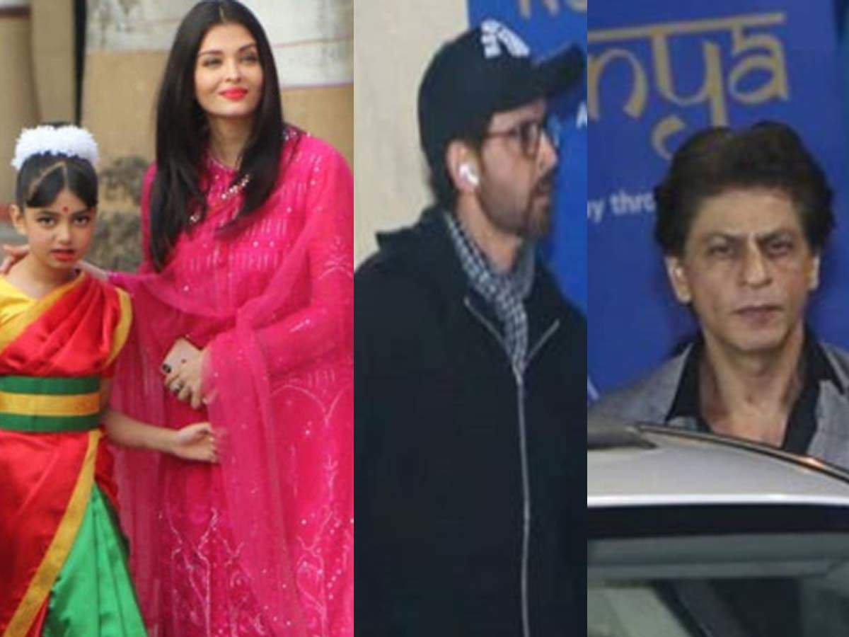 Aishwarya Rai Bachchan Attends Her Daughter Aaradhya S School Function Amitabh Bachchan Shah Rukh Khan And Hrithik Roshan Also Attend The Event Hindi Movie News Times Of India