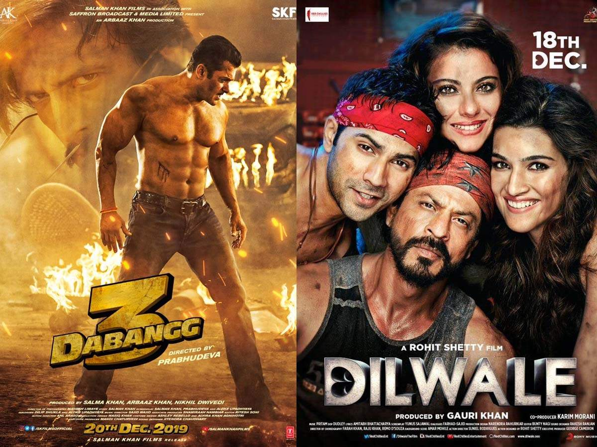 Salman Khan's 'Dabangg 3' Vs Shah Rukh Khan's 'Dilwale': Five day  comparison of box office collection | Hindi Movie News - Times of India