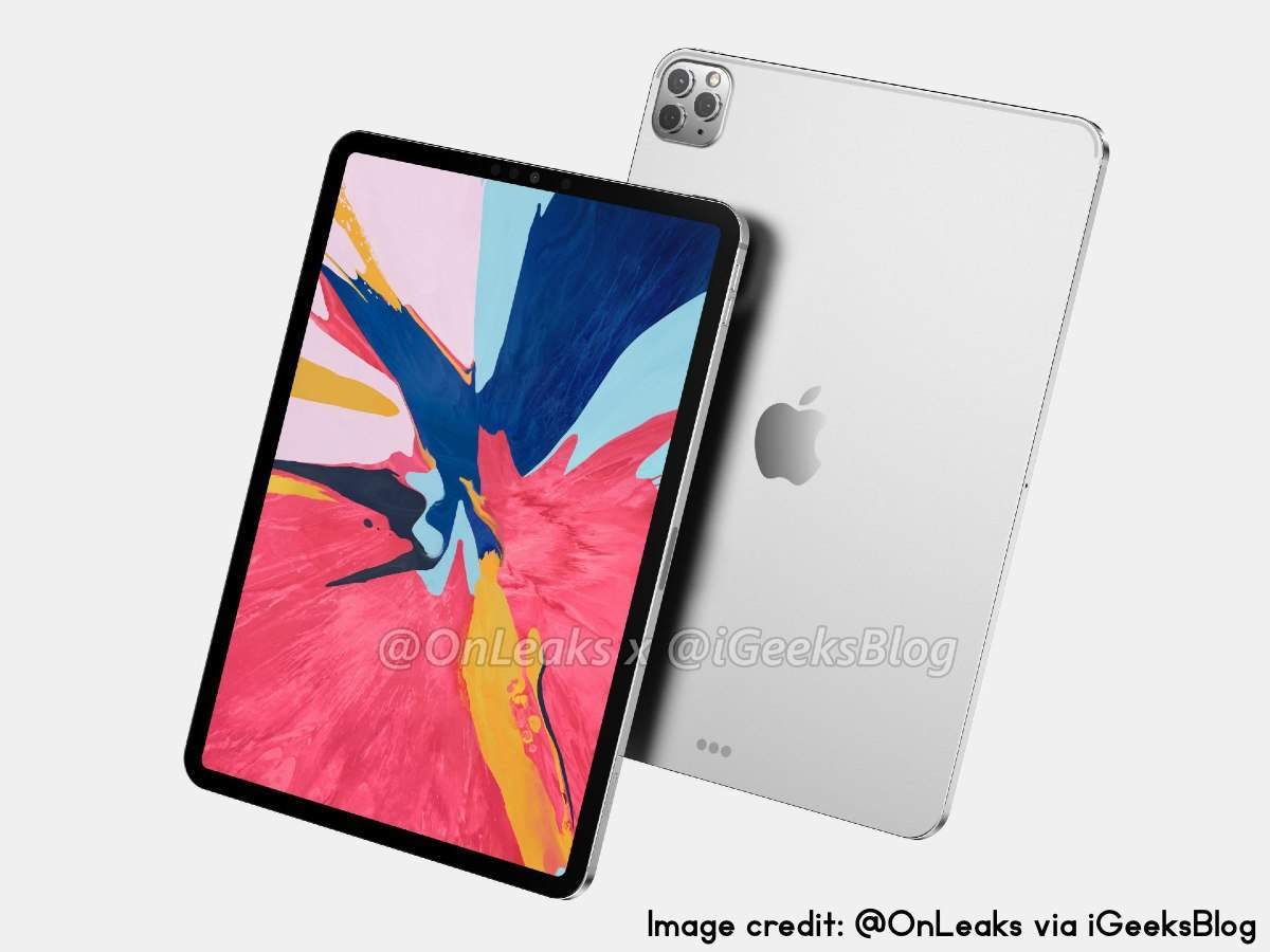 Apple Ipad 2020 Render Apple S 2020 Ipad To Get This Iphone 11 Pro Max Look Times Of India