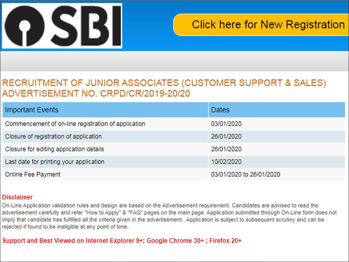 SBI Clerk Recruitment: SBI Clerk 2020 notification released, Apply Online @  sbi.co.in