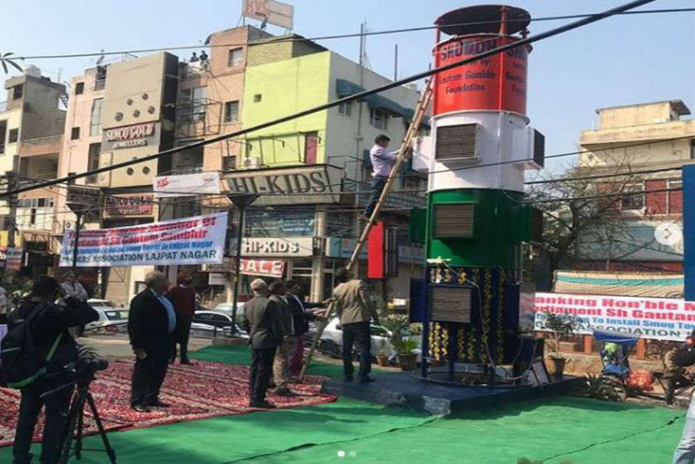 Delhi builts a 20 ft tall 'Smog Tower' to combat air pollution