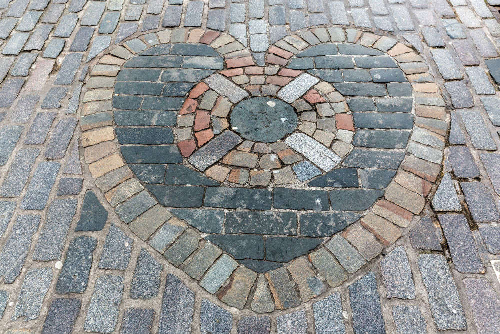 Do you know why people spit on 'The Heart of Midlothian' in Edinburgh?