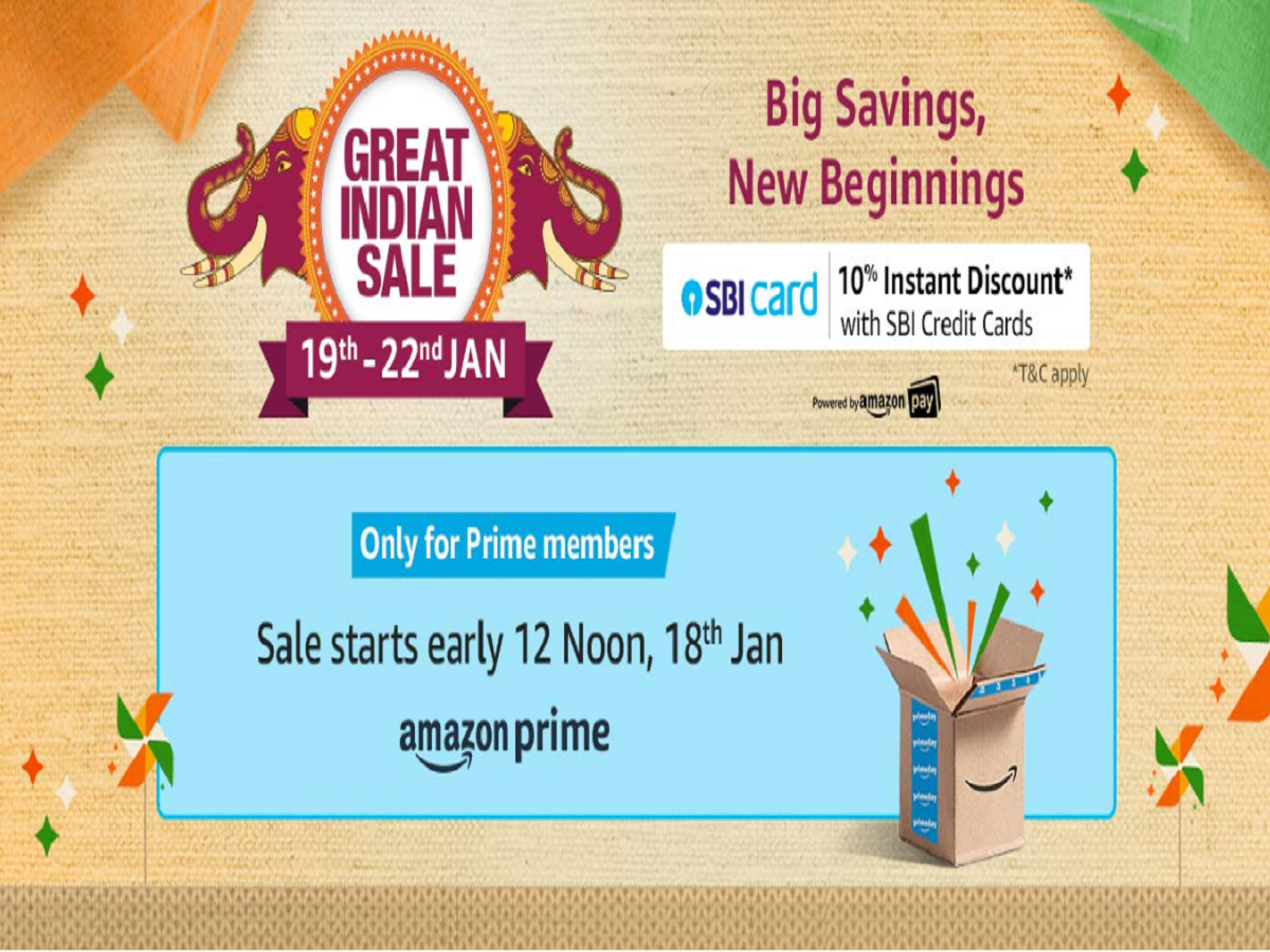 Amazon Great Indian Sale 2020 Begins On January 19 Here Is