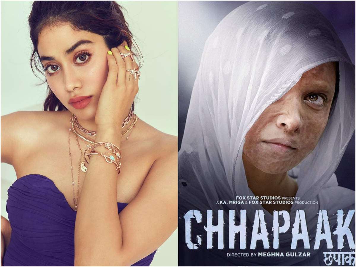 Janhvi Kapoor is all praise for Deepika Padukone's 'Chhapaak'; calls it 'brave, sensitive and soul-stirring' - Times of India