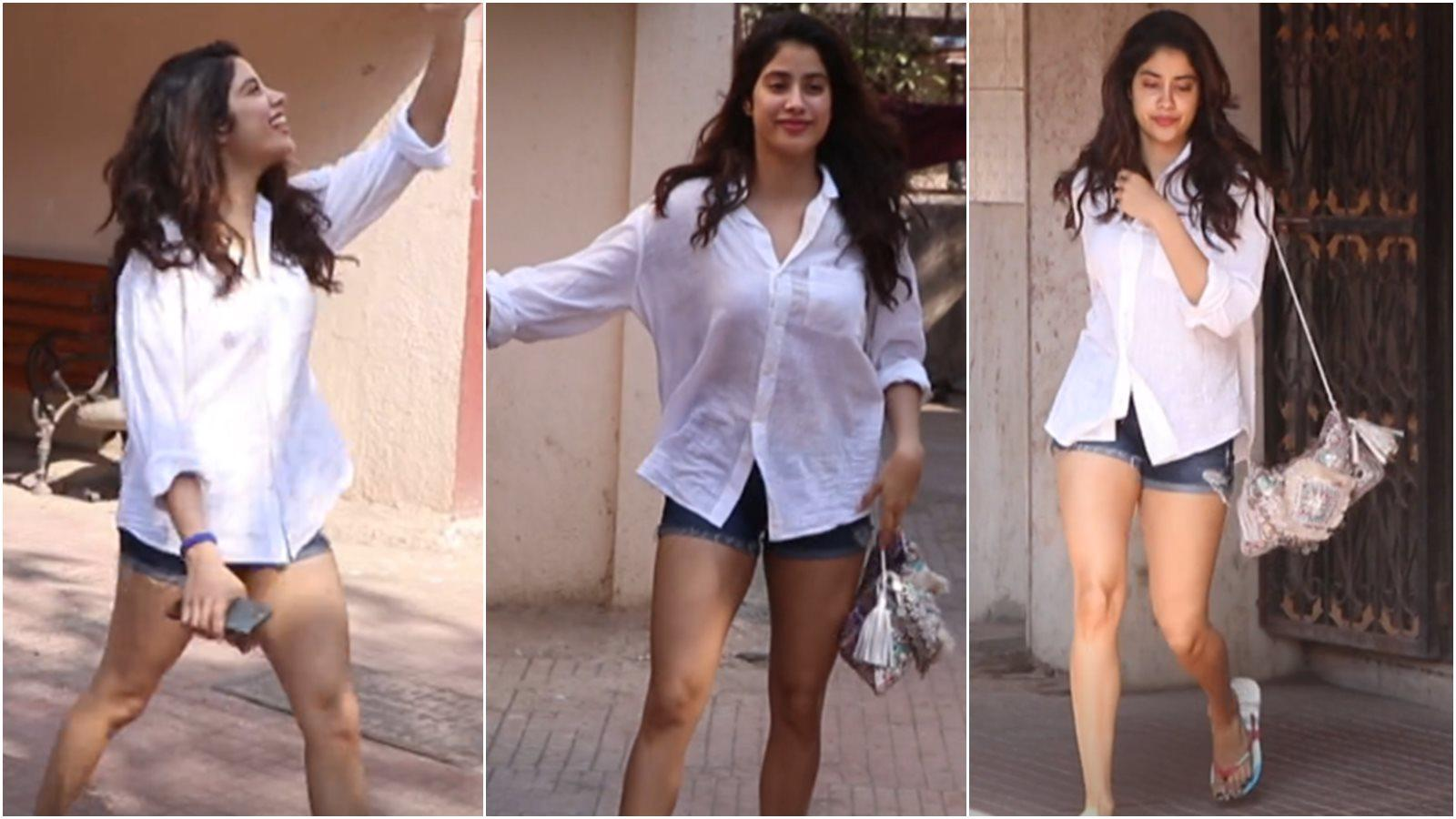 janhvi-kapoor-sports-girl-next-door-look-makes-heads-turn-in-white-shirt-and-shorts