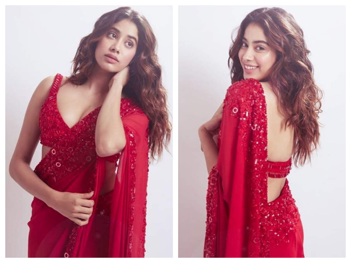 Janhvi Kapoor raises the hotness quotient in her ravishing red ...