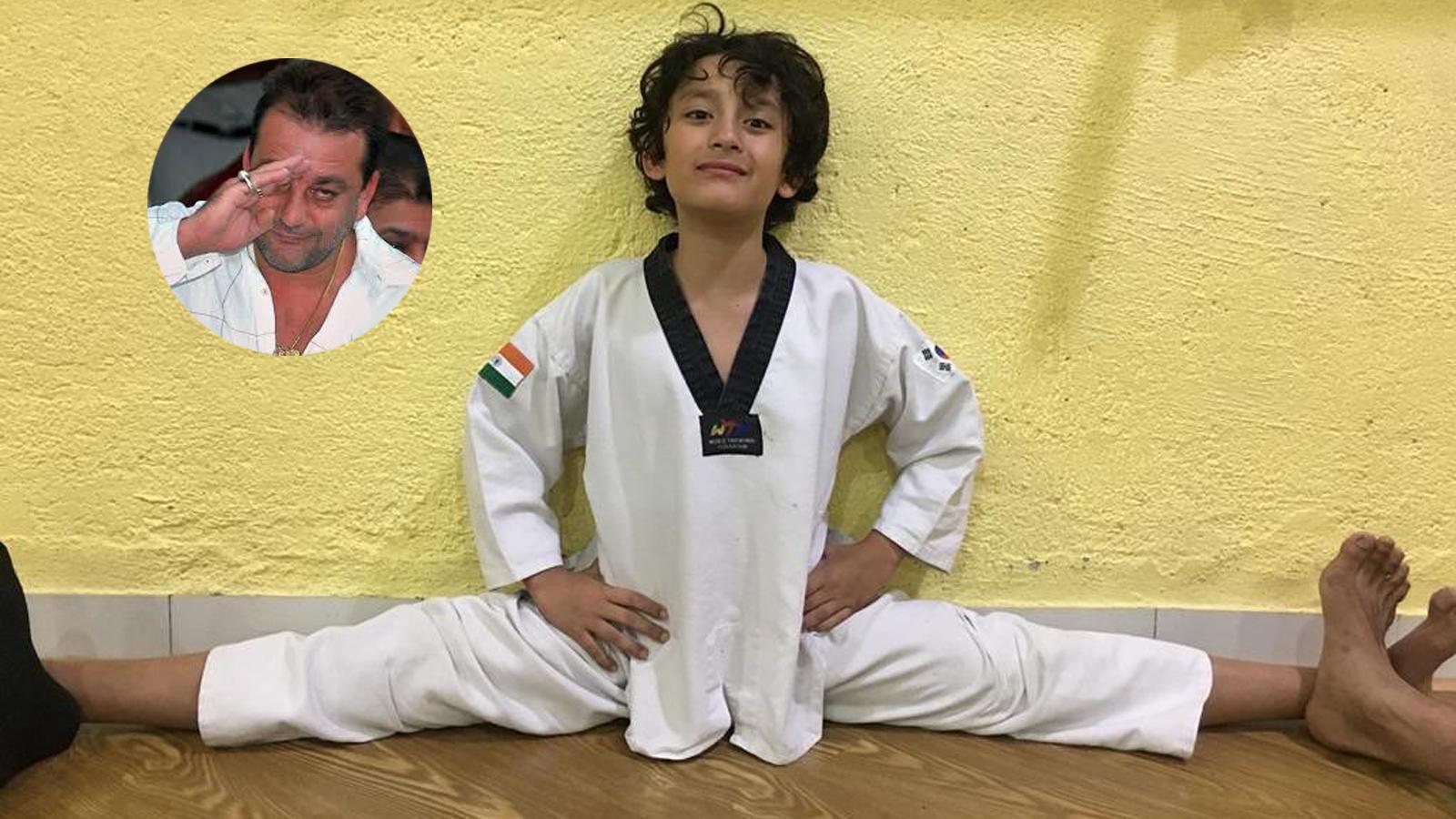 sanjay-dutt-is-proud-of-his-little-karate-kid