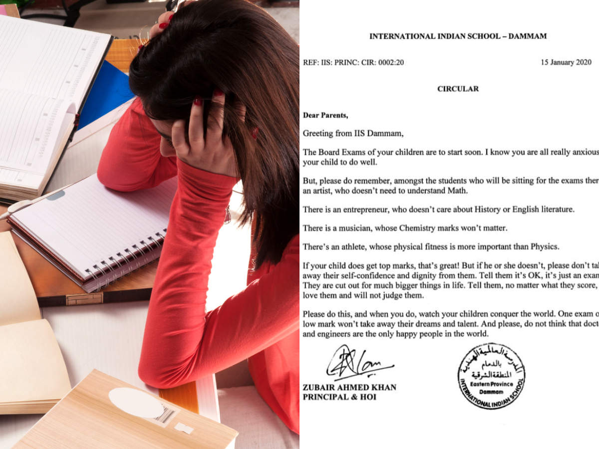 Marks Don T Matter It S Just An Exam A Principal S Letter To Parents Before Exam Season Is Going Viral Times Of India