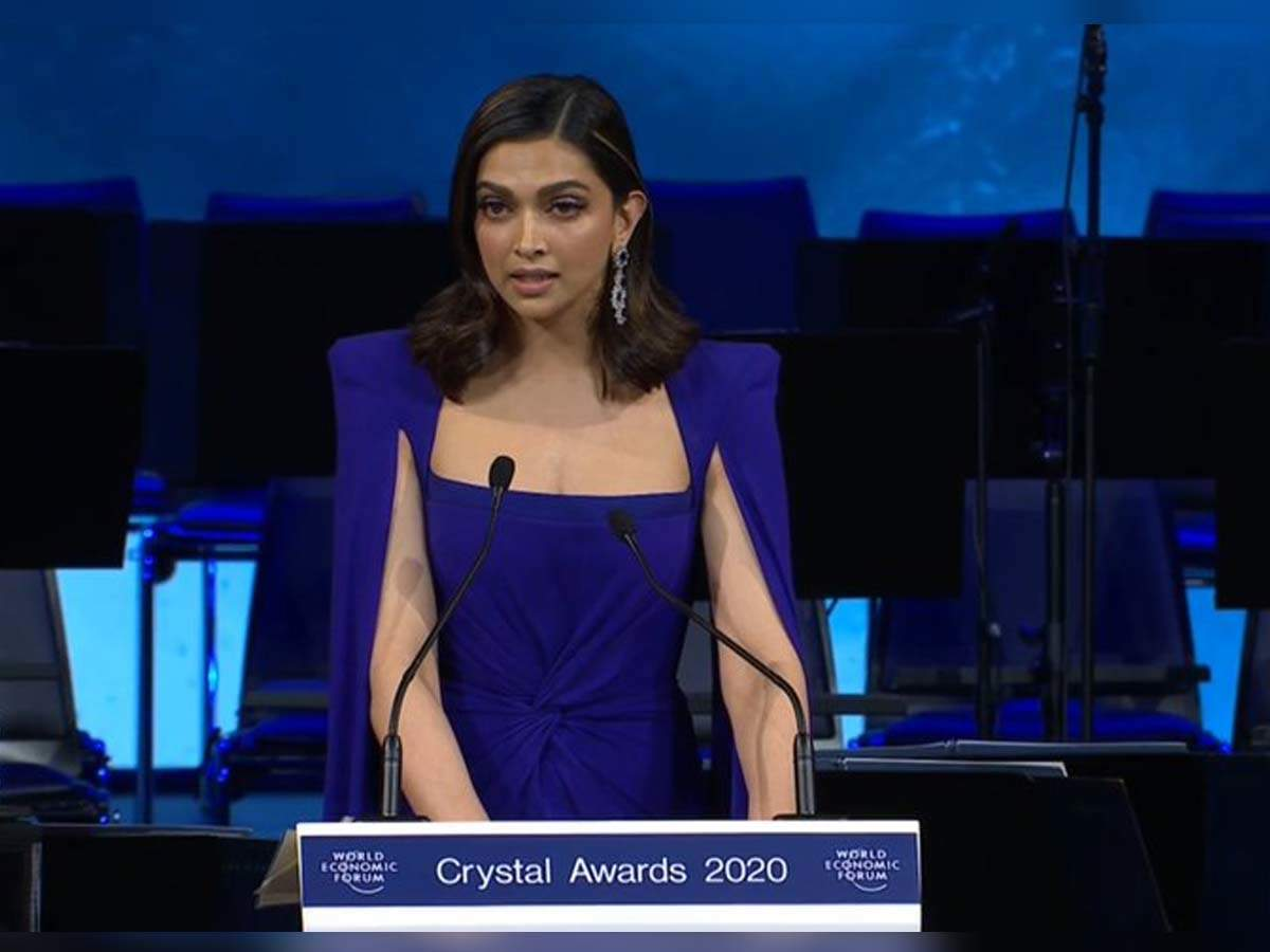 Videos: Deepika Padukone's speech on depression, stress and mental health at the World Economic Forum 2020 deserves all your attention - Times of India