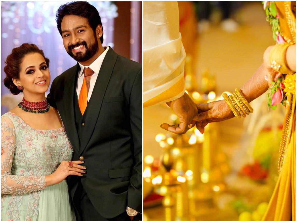 Bhavana Wedding Anniversary Bhavana Celebrates Second Wedding Anniversary With Naveen Malayalam Movie News Times Of India