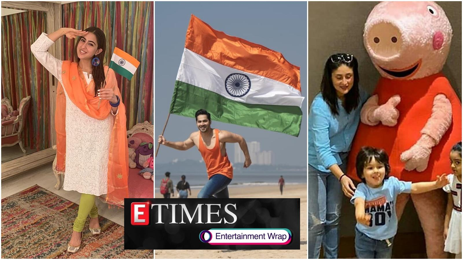 republic-day-2020-from-shah-rukh-khan-to-sara-ali-khan-bollywood-extends-greetings-taimur-ali-khan-gets-super-excited-after-meeting-peppa-pig-and-more
