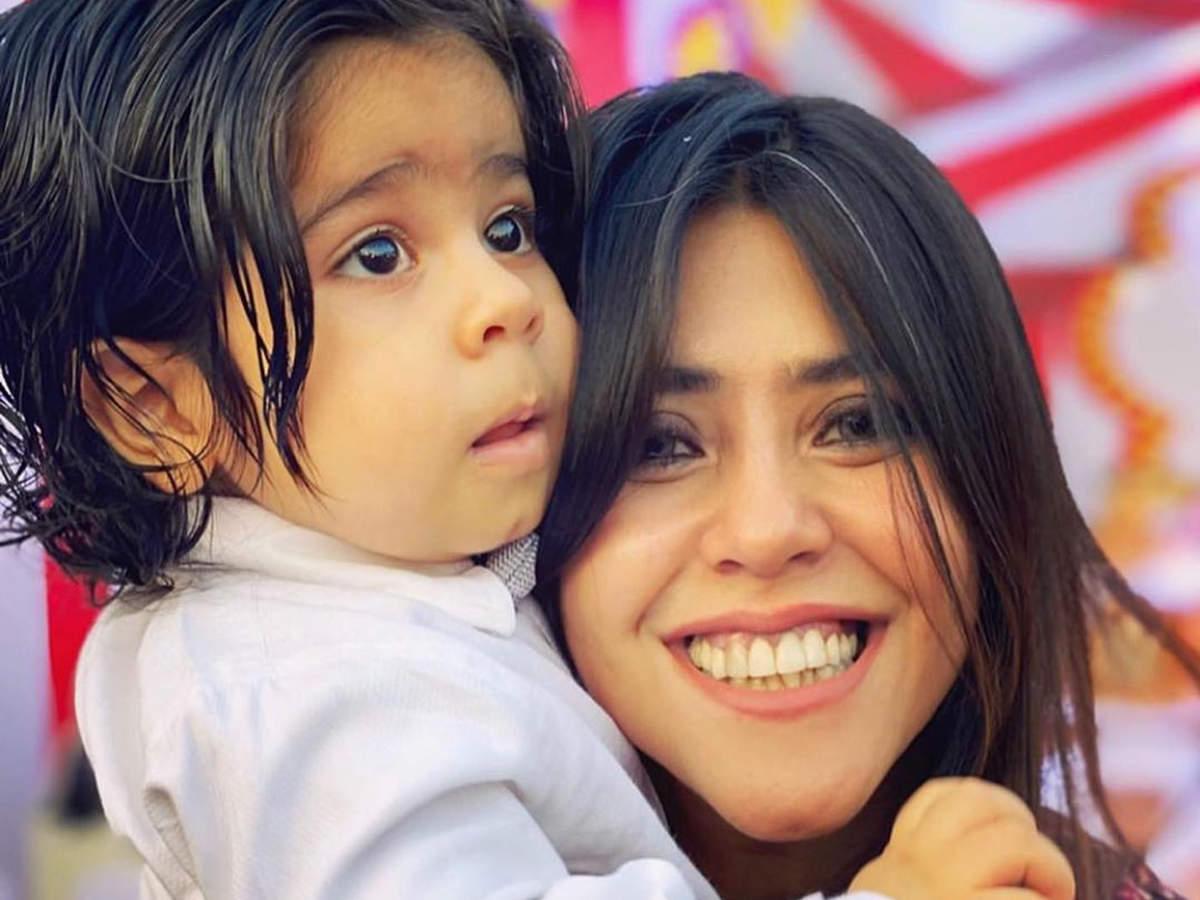 Ekta Kapoor reveals the face of son Ravie on his first birthday; a look -  Times of India