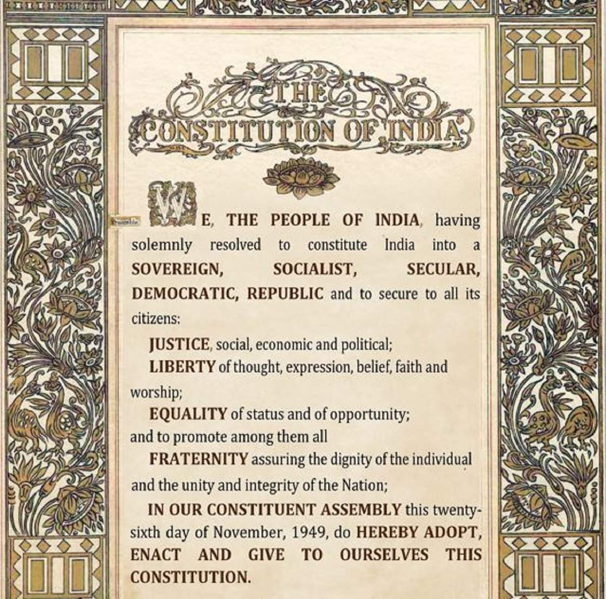 Reconnect with the Preamble | India News - Times of India