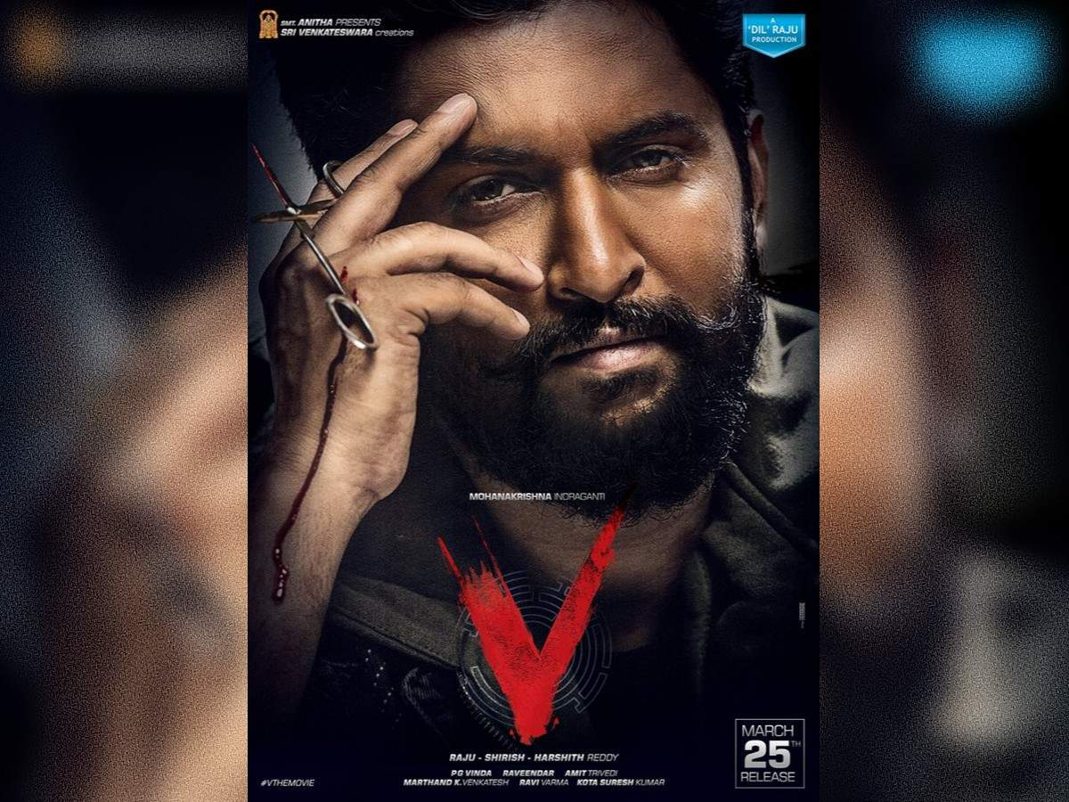 Nani's shocking and intense first-look from 'V' | Telugu Movie News - Times  of India