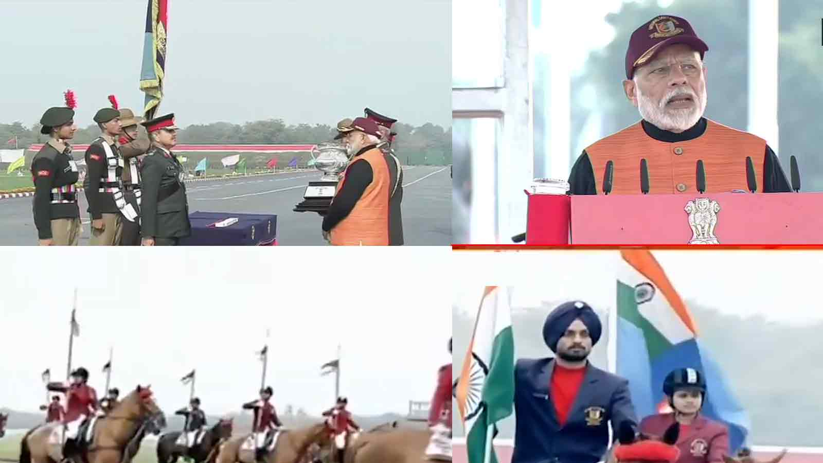 pm-narendra-modi-attends-national-cadet-corps-rally-2020