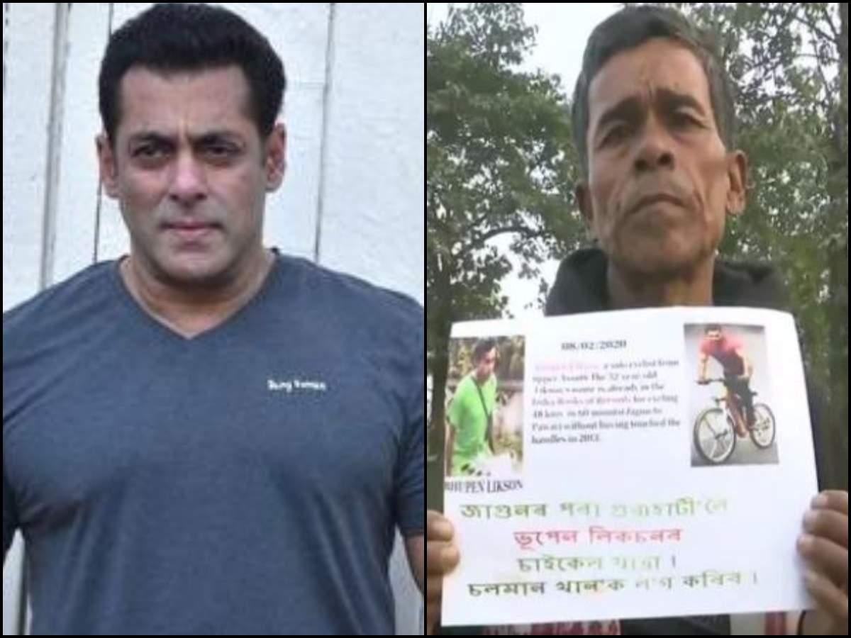 Filmfare Awards 2020: Salman Khan's fan travels 600 km on cycle to meet him in Guwahati - Times of India