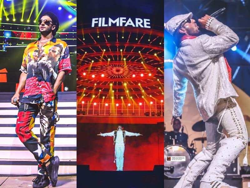 These pictures of Ranveer Singh from the rehearsals of the 65th Amazon Filmfare Awards will make you excited for the event!