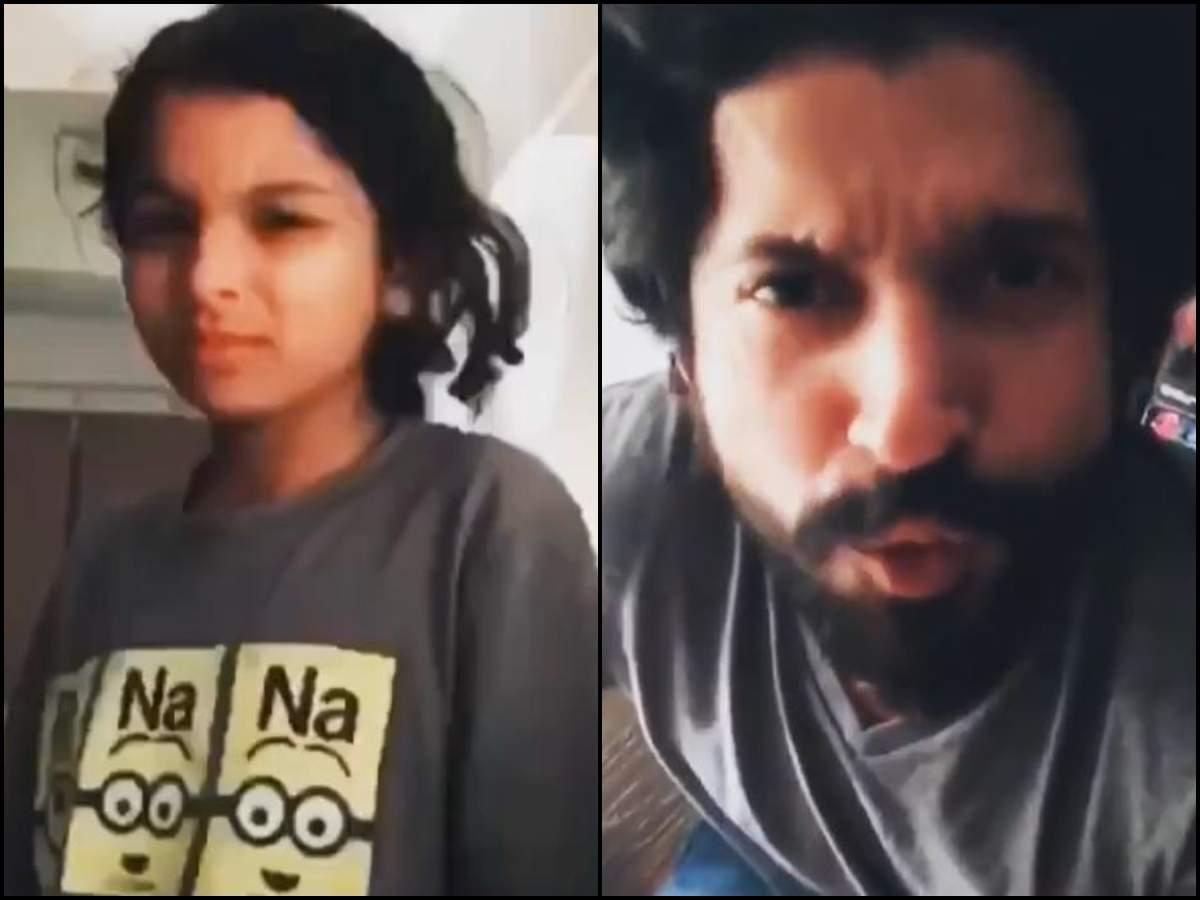 Фархан Ахтар делится забавным видео о возвращении со своей дочерью Акирой, а подруга Шибани Дандекар называет это «эпическим»   Хинди Новости Кино