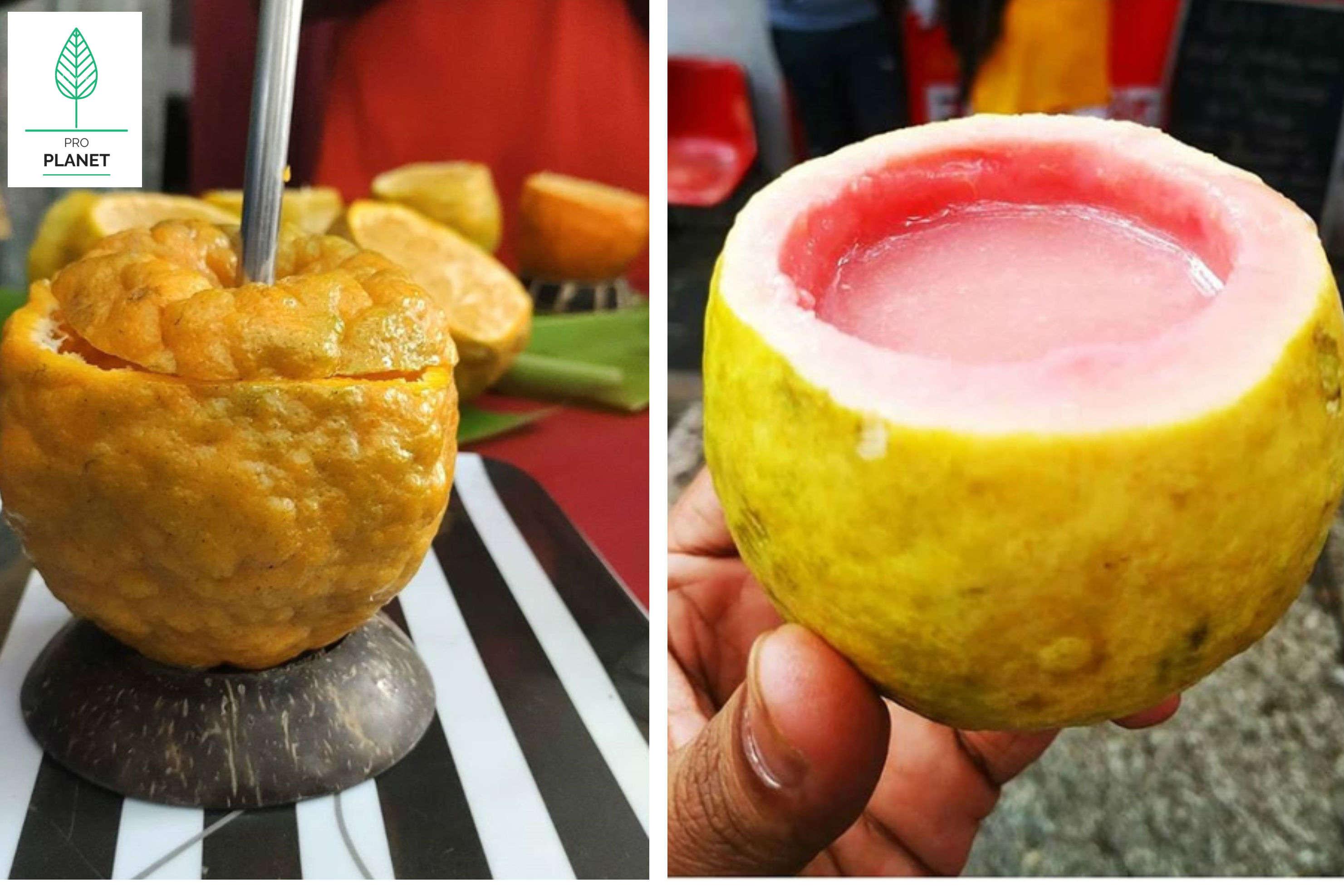 This zero-waste juice bar in Bengaluru serves juice in fruit shells