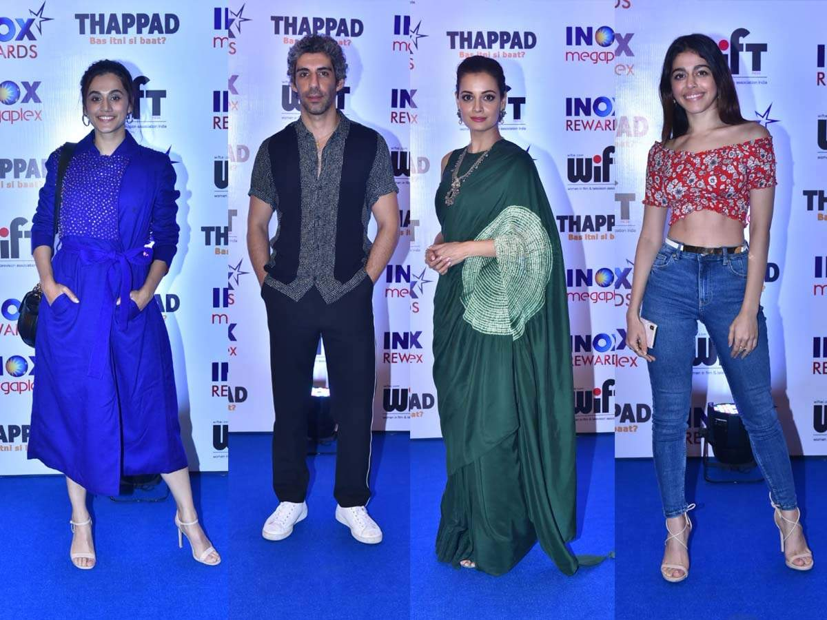 Photos: Taapsee Pannu, Dia Mirza, Alaya F, Jim Sarbh and other Bollywood celebs attend the screening of ' thumbnail
