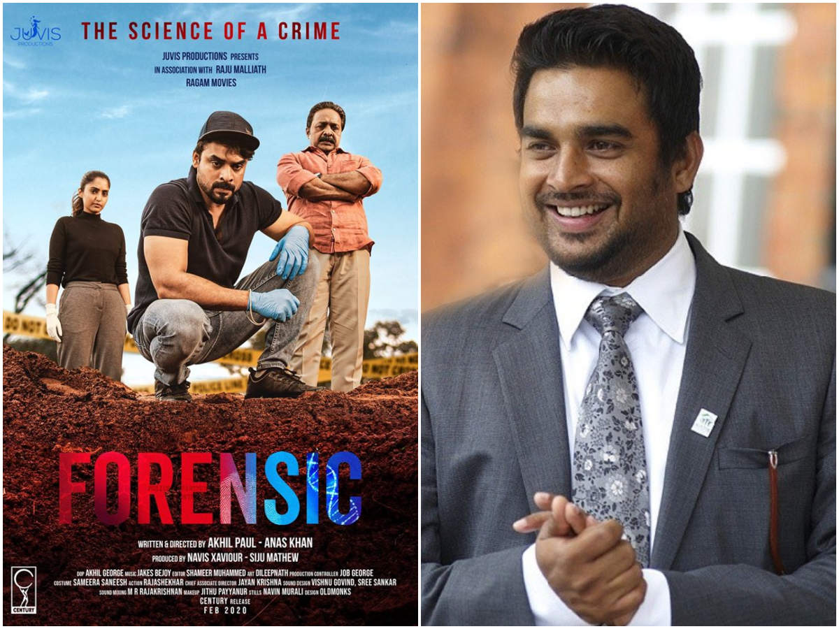 Tovino Thomas R Madhavan Wishes Team Forensic All The Success Malayalam Movie News Times Of India