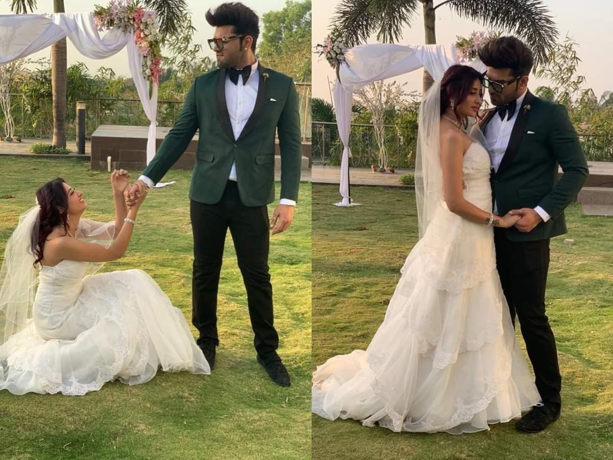 Bigg Boss 13's Paras Chhabra and Mahira Sharma aka PaHira look stunning in their wedding looks from their thumbnail