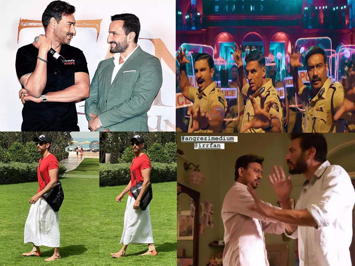 Ajay reacts to rumours of having a feud with Saif, Irrfan performs Tai Chi, Hrithik credits Ranveer for h thumbnail