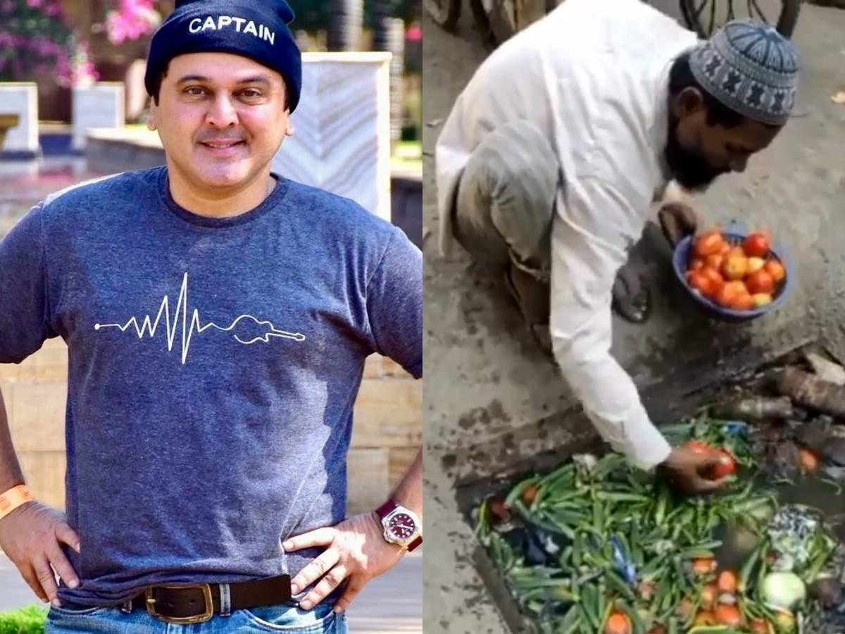 Ali Asgar shares video of a hawker washing vegetables in a gutter; jokes 'kya hame koi virus chu sakta ha thumbnail