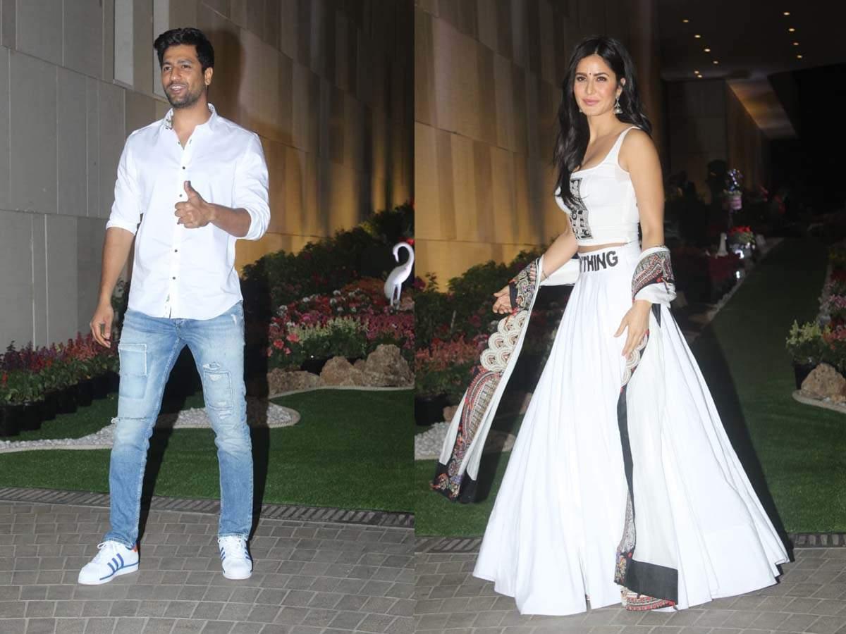 Photos: Vicky Kaushal and rumoured girlfriend Katrina Kaif twin in white as  they arrive at Isha Ambani Piramal's Holi Bash | Hindi Movie News - Times  of India
