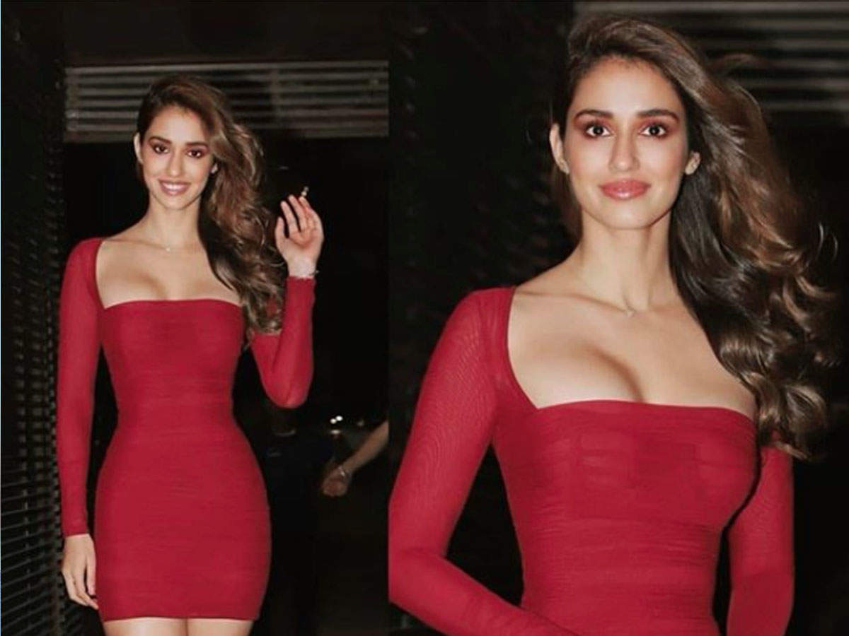 Photo Malang Star Disha Patani Turns Up The Heat On The Internet In A Mesmerising Red Outfit Hindi Movie News Times Of India