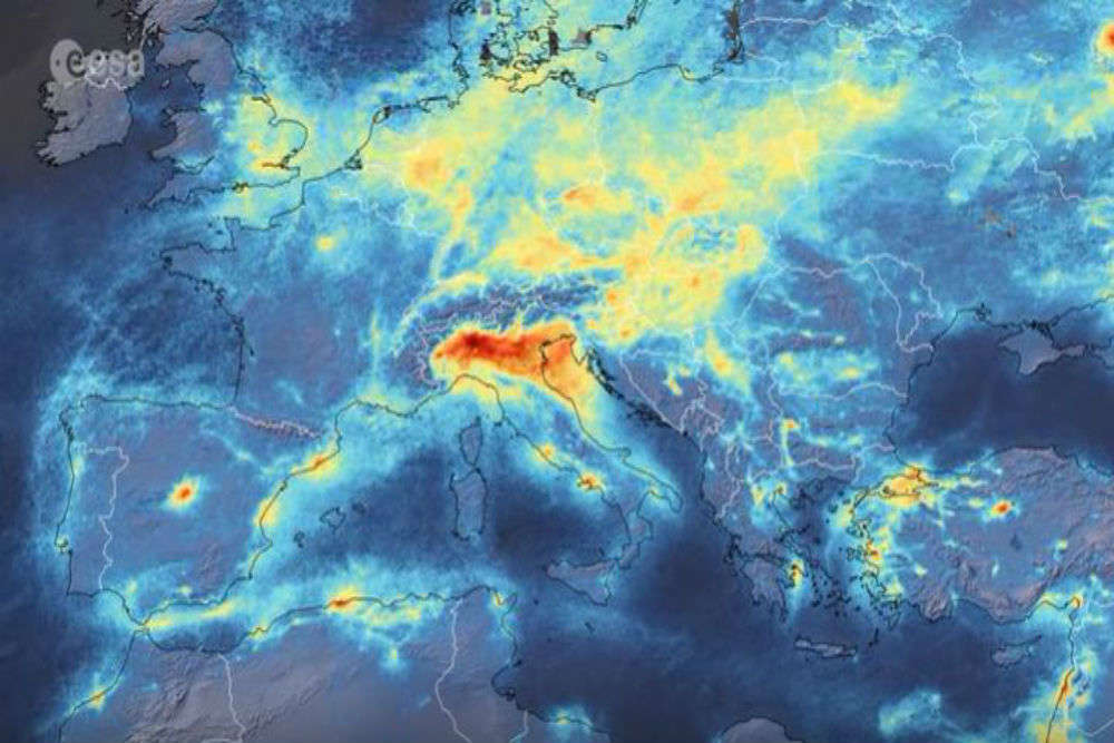 Air pollution in Italy drops significantly after COVID 19 shutdown, satellite images released
