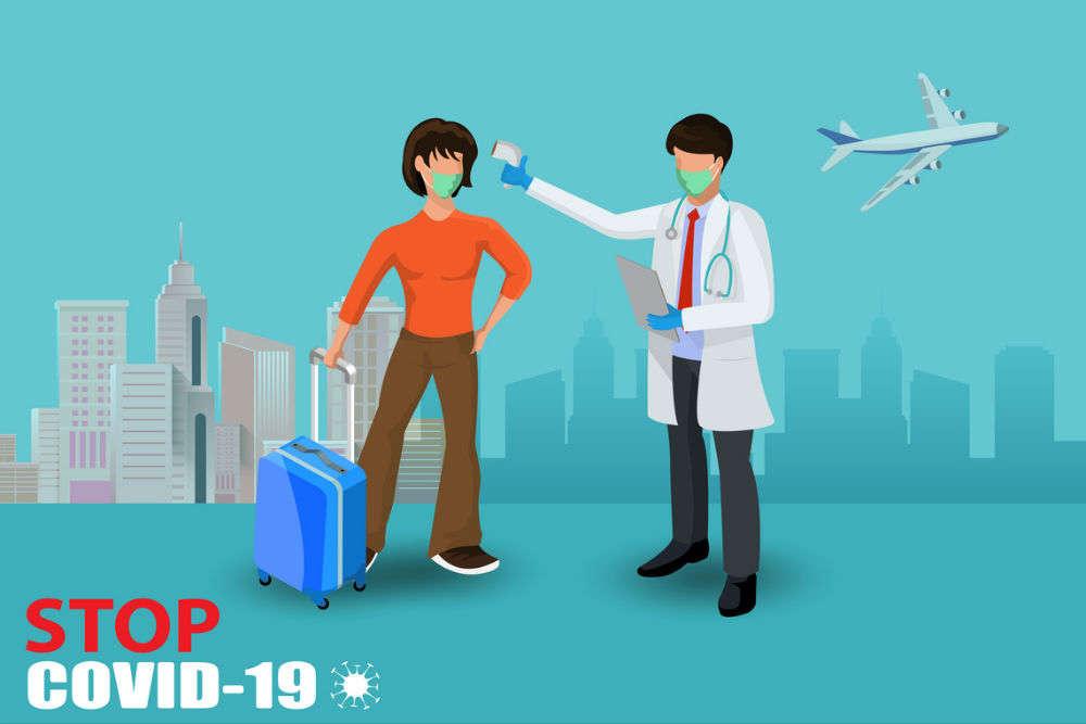 Passengers are getting COVID-19 quarantine stamps at Mumbai, Bengaluru airports