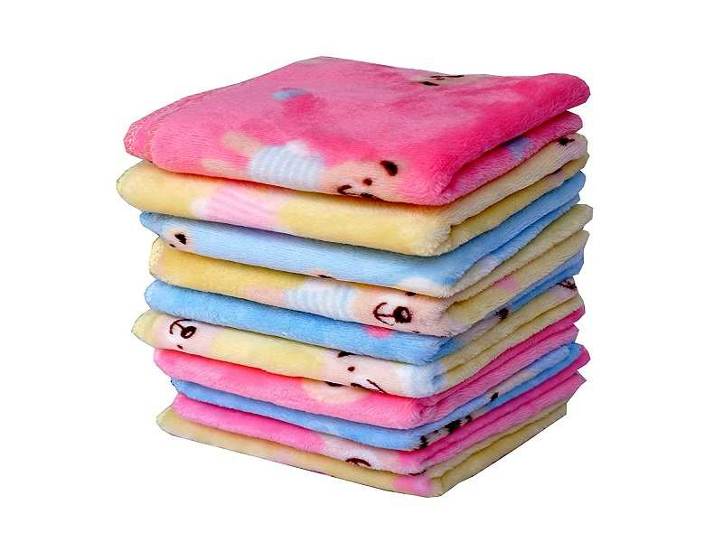 Home-X Microfiber Washcloths in Pastel Colors Set of 5 Wash Cloths