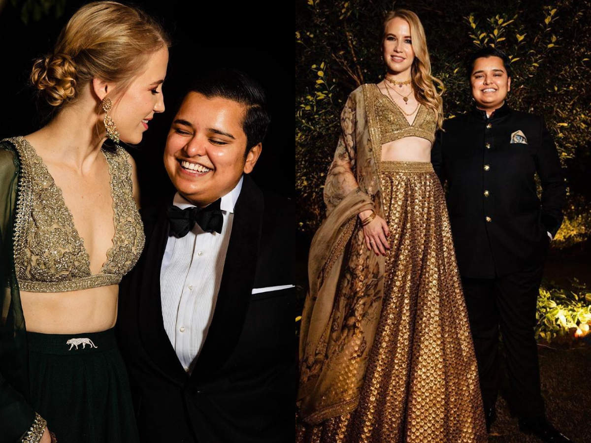 This Lesbian Swiss Fashion Boutique Owner Wore Sabyasachi Lehengas For Her Wedding Festivities And She Looked Out Of This World Times Of India