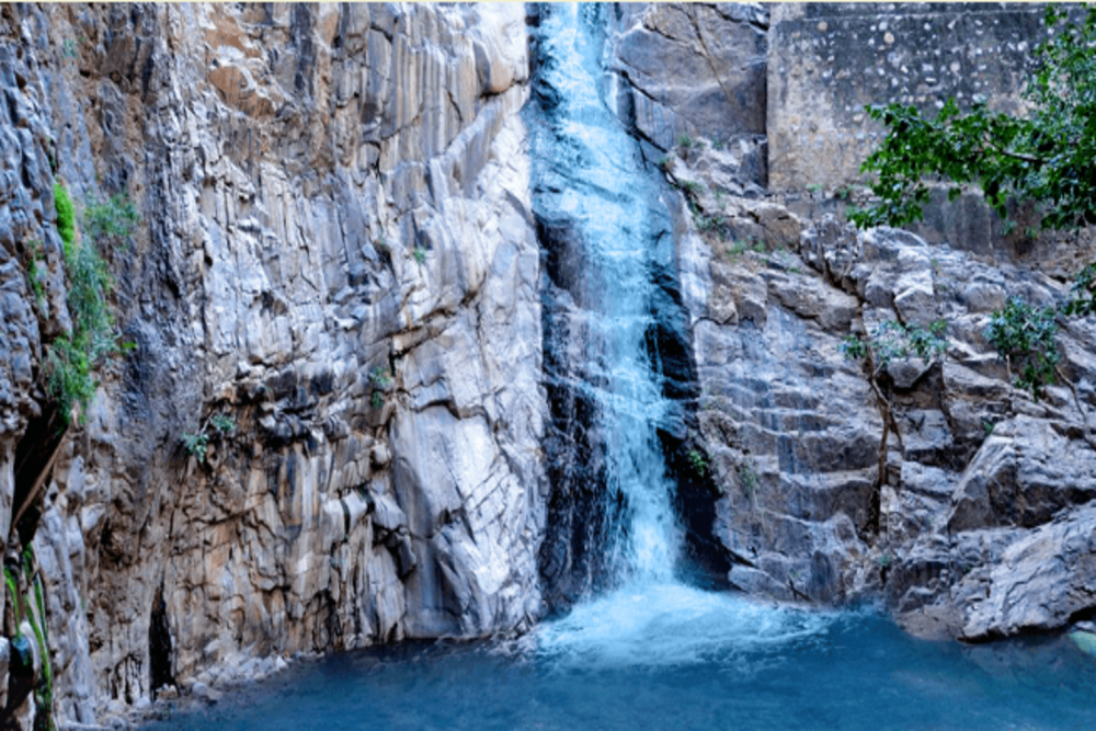 A rare, delightful waterfall in Rajasthan near Alwar–Garbhaji Falls
