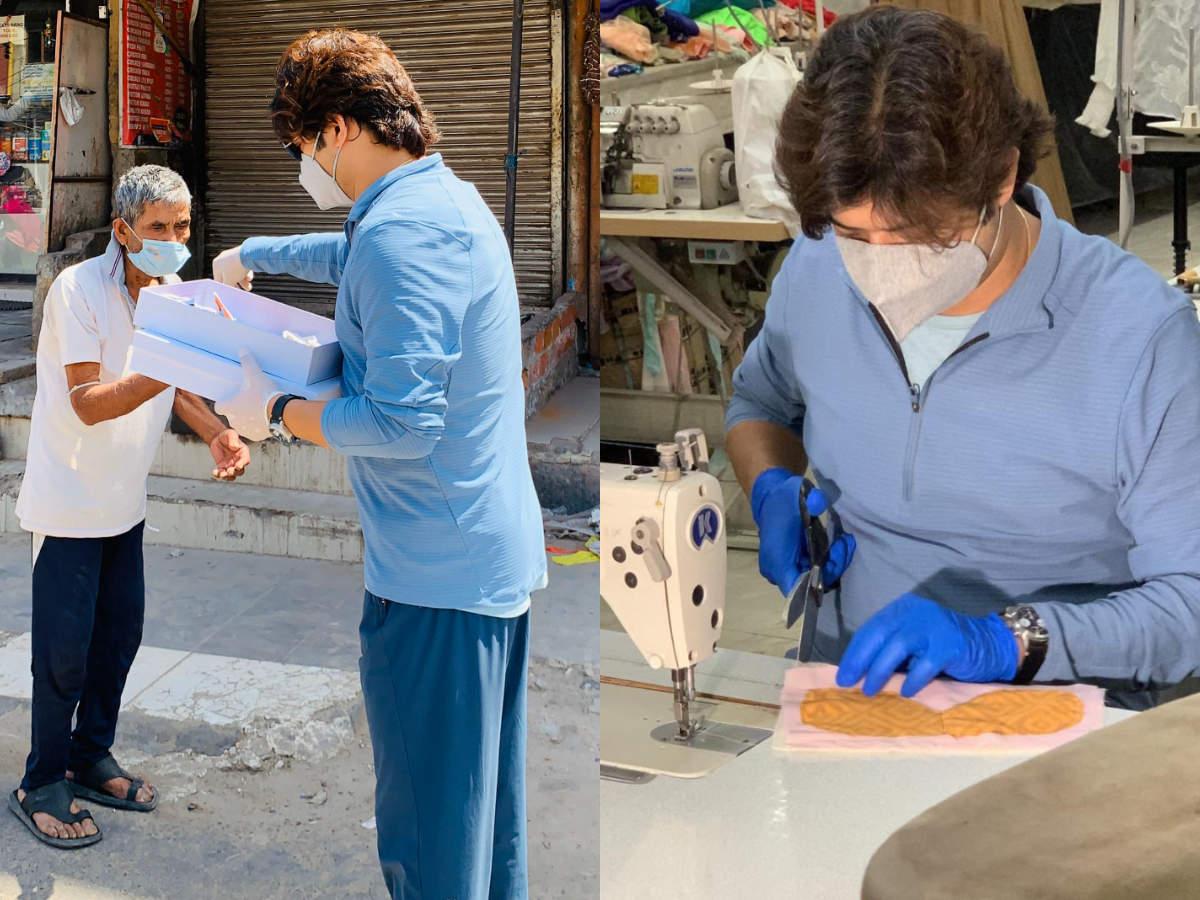 Meet Manish Tripathi A Delhi Based Fashion Designer Who S Designed Khadi Face Masks To Fight Covid 19 Times Of India