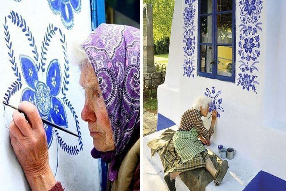 This 90-year-old granny has turned her tiny Polish village into a beautiful art gallery
