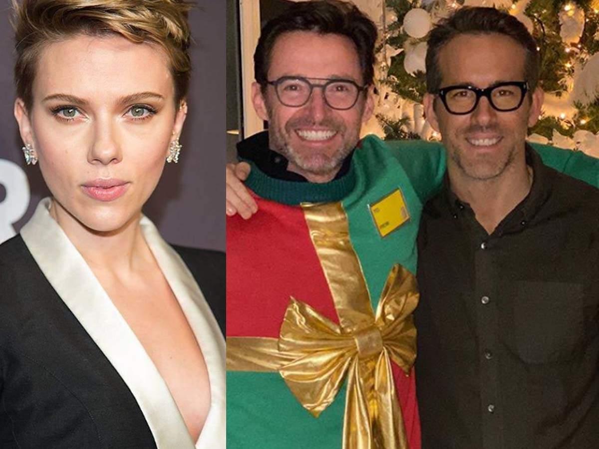 Scarlett Johansson Caused Hugh Jackman Ryan Reynolds Feud English Movie News Times Of India