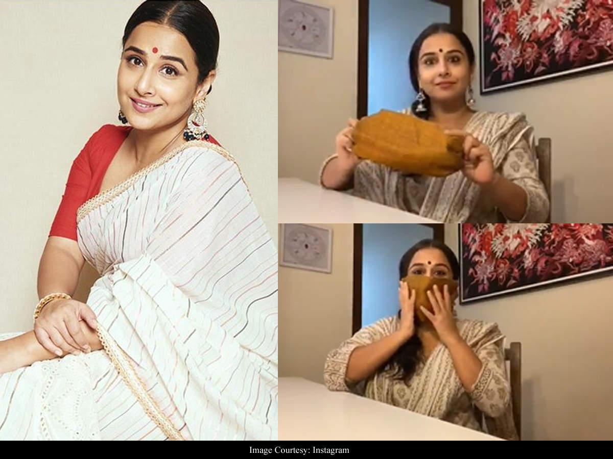 Covid 19 Vidya Balan Shows How To Make A Mask At Home Hindi Movie News Times Of India
